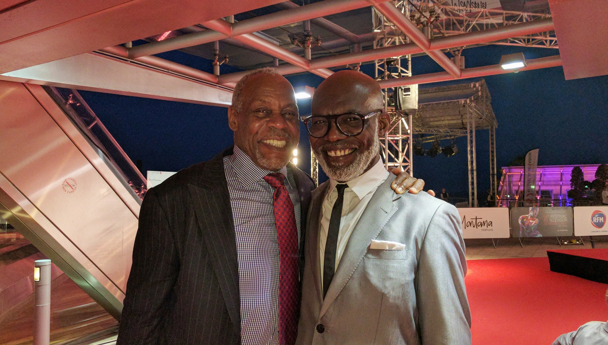 Danny Glover and Eriq Ebouaneyau Festival Montecarlo FTV16 ( photo lobographik)
