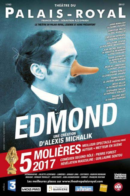 Edmond un triomphe au théâtre avec 5 Molières