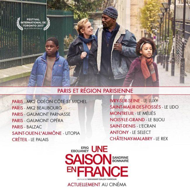 """Actuellement au cinéma """" Une saison en France """""""
